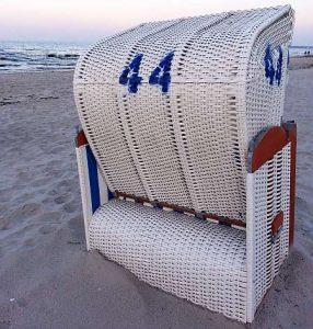 Strandkorb 44 an der Ostsee