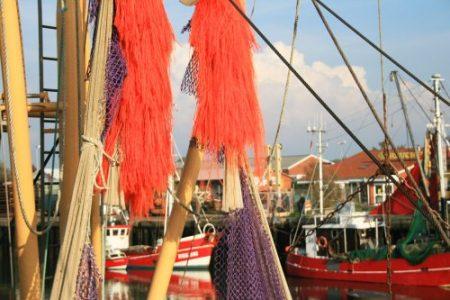 Krabbenkutter mit Netz