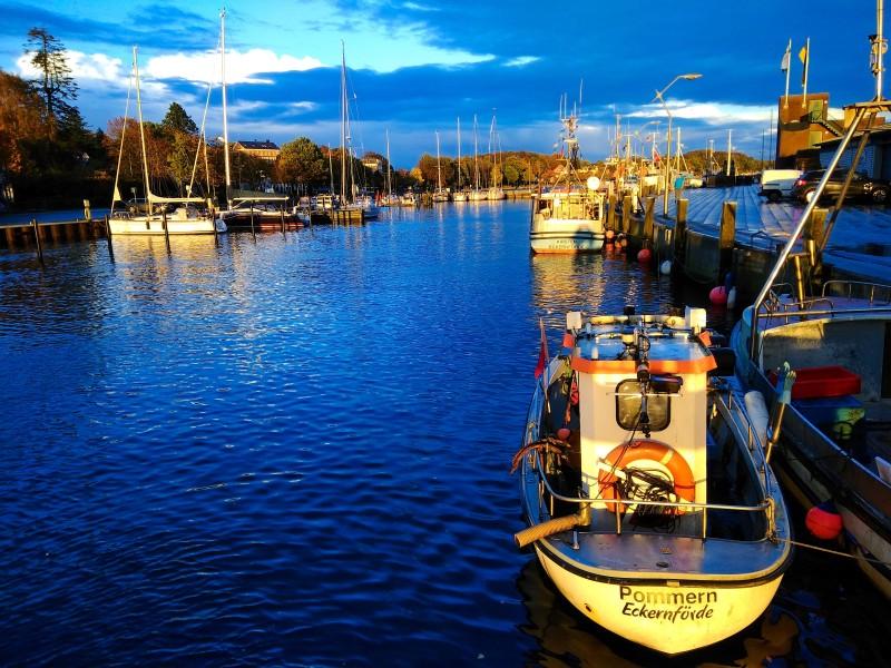 Eckernförde Hafen Sonne