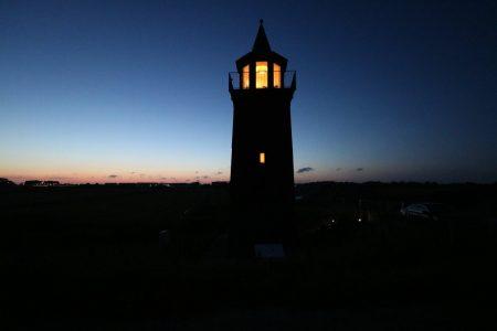 Leuchtturm Dagebüll bei Nacht